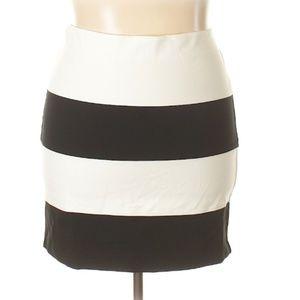Ann Taylor Striped Stretchy Skirt
